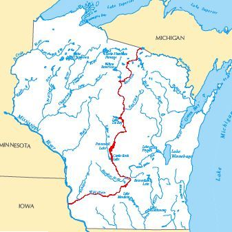 Maps of wisconsin rivers